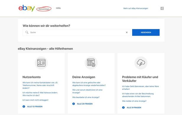 Ebay Kleinanzeigen Relaunch Des Customer Service Bereichs